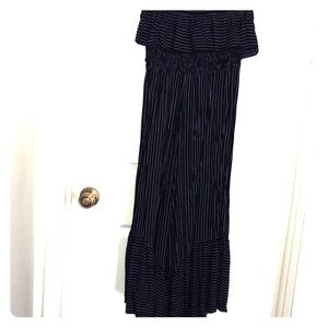 American Eagle strapless jumpsuit.